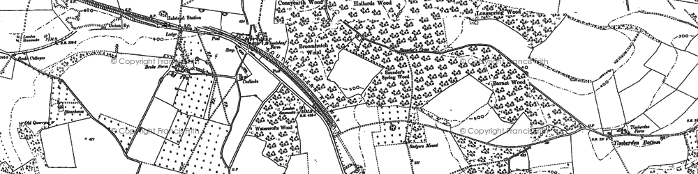 Old map of Badgers Mount in 1895