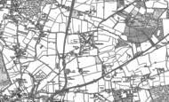 Old Map of Badshot Lea, 1913