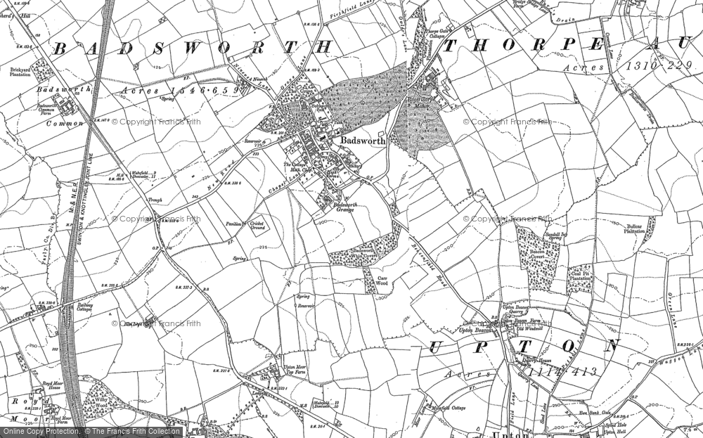 Old Map of Badsworth, 1891 in 1891