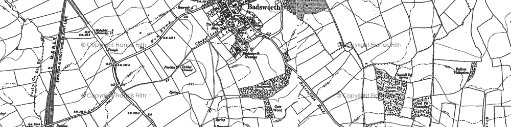 Old map of Badsworth in 1891