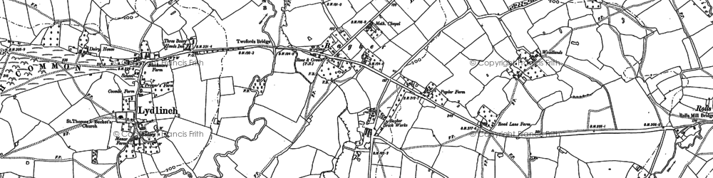 Old map of Bagber in 1886