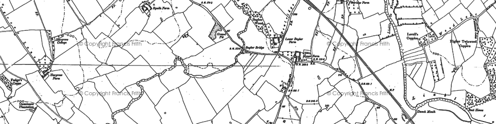 Old map of Bagber Br in 1886