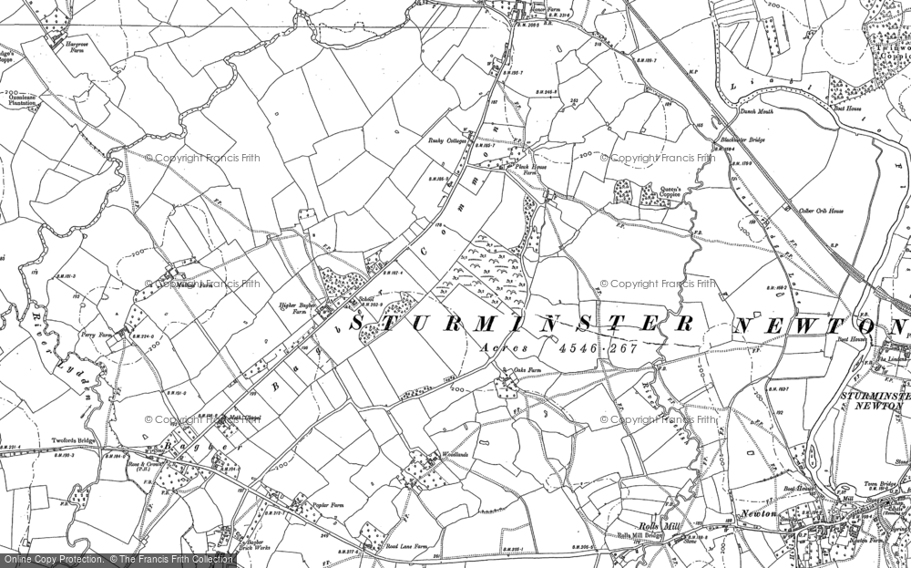 Old Map of Bagber Common, 1886 in 1886