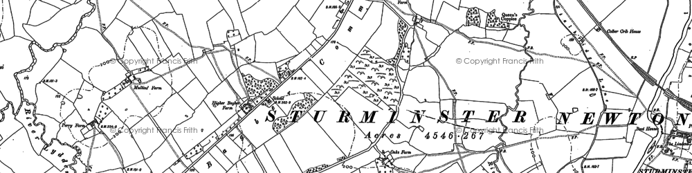 Old map of Bagber Common in 1886