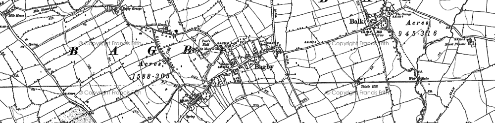 Old map of Woodcock in 1890
