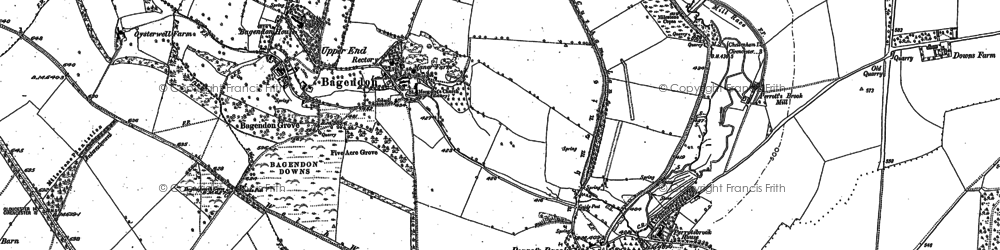 Old map of Bagendon Downs in 1875