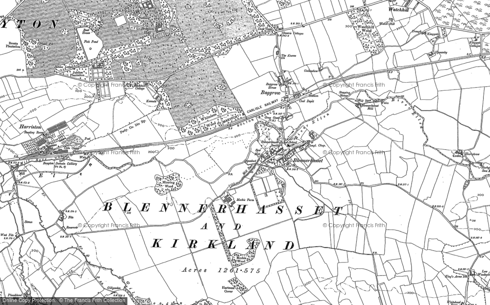 Old Map of Baggrow, 1899 in 1899