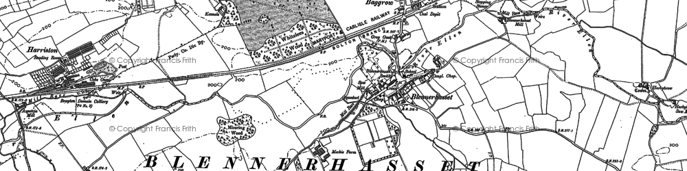 Old map of Baggrow in 1899