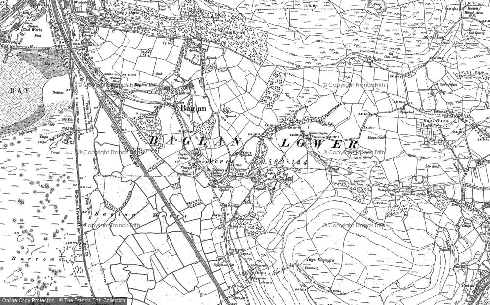Old Map of Baglan, 1897 in 1897