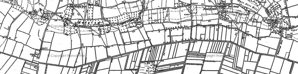 Old map of Bagley in 1884