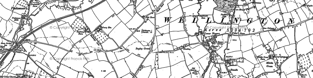Old map of Bagley Green in 1903