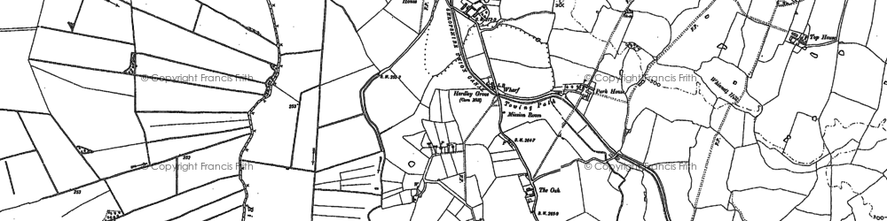 Old map of Baggy Moor in 1875