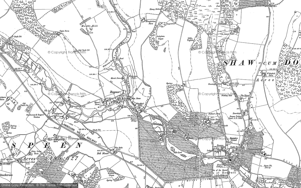 Old Map of Bagnor, 1898 in 1898