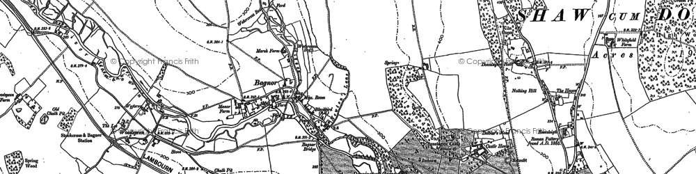 Old map of Bagnor in 1898