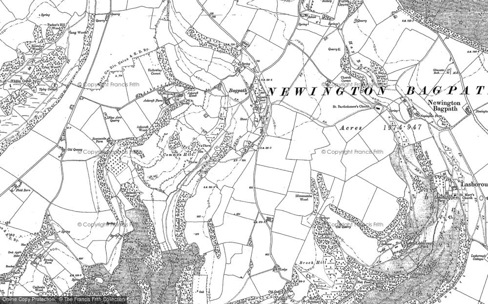 Old Map of Bagpath, 1881 - 1882 in 1881