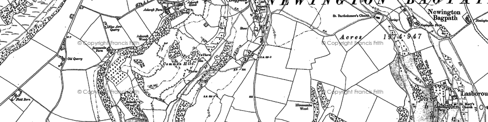 Old map of Bagpath in 1881