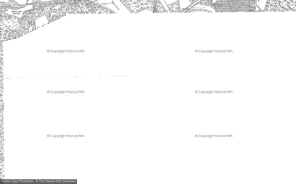 Map of Bagshot, 1895 - 1912
