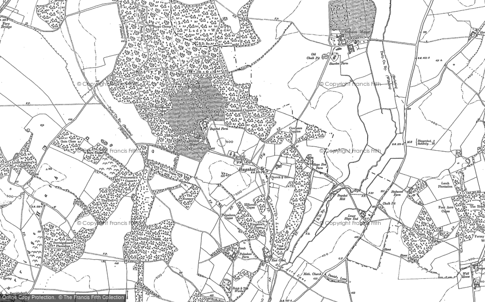 Old Map of Bagshot, 1909 - 1922 in 1909