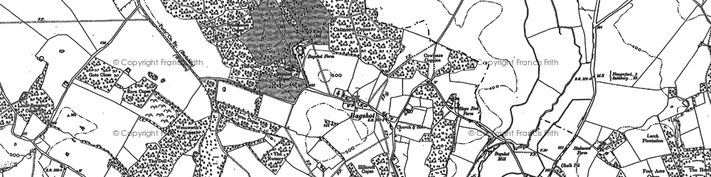 Old map of Bagshot in 1909