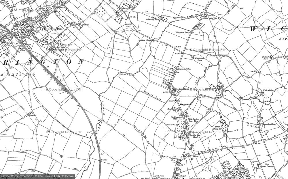 Old Map of Bagstone, 1879 - 1881 in 1879
