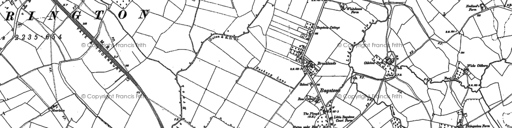 Old map of Bagstone in 1879