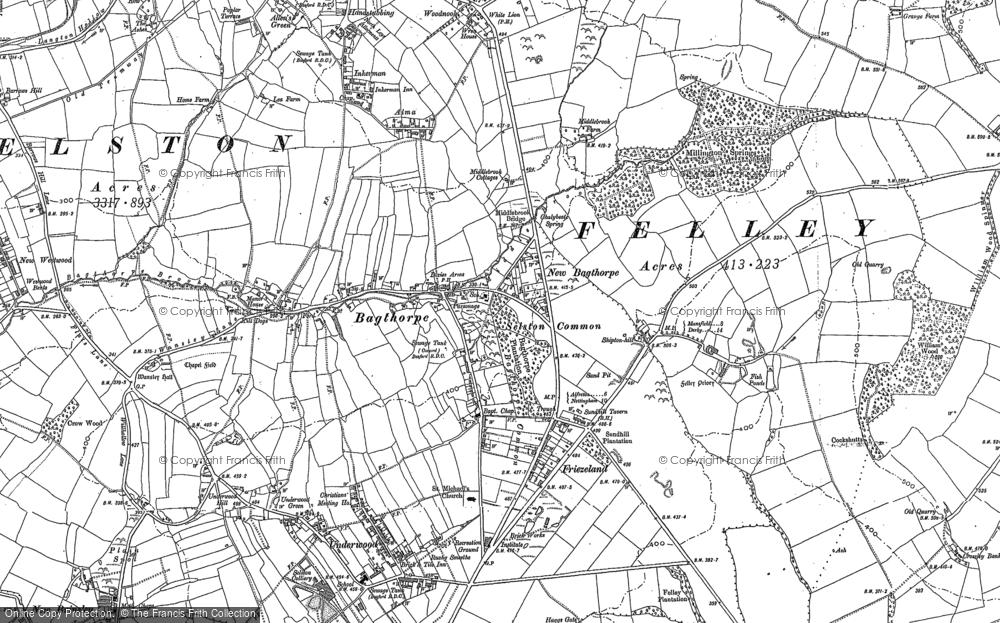 Old Map of Bagthorpe, 1899 in 1899