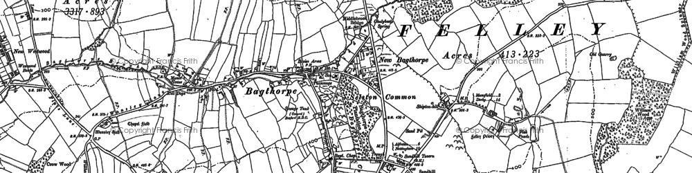 Old map of Bagthorpe in 1899