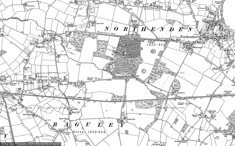 Old Map of Baguley, 1897 - 1908 in 1897