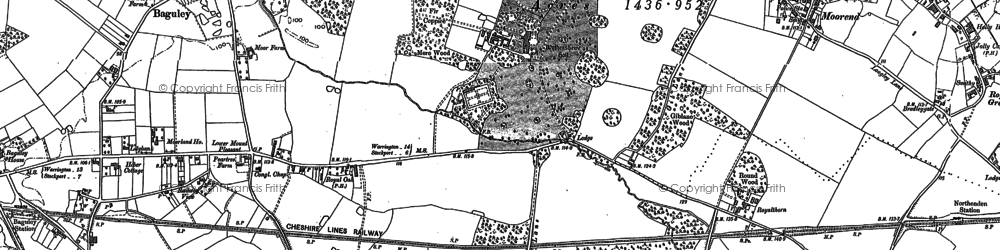 Old map of Wythenshawe Hall in 1897