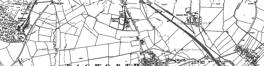 Old map of Bagworth in 1881