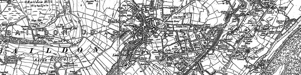 Old map of Baildon Moor in 1891