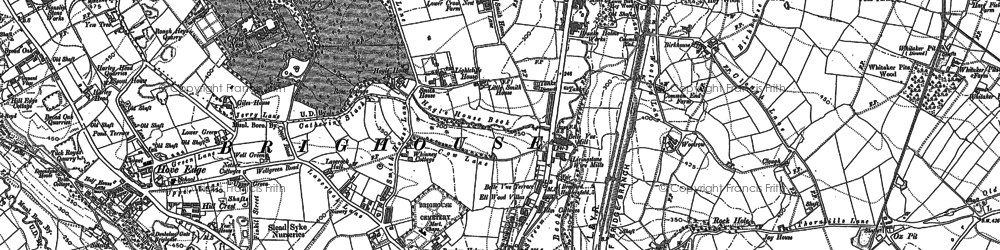 Old map of Woolrow in 1892