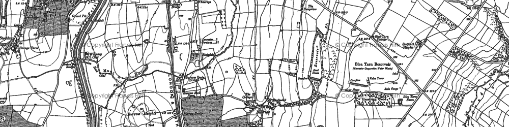 Old map of Bailrigg in 1910
