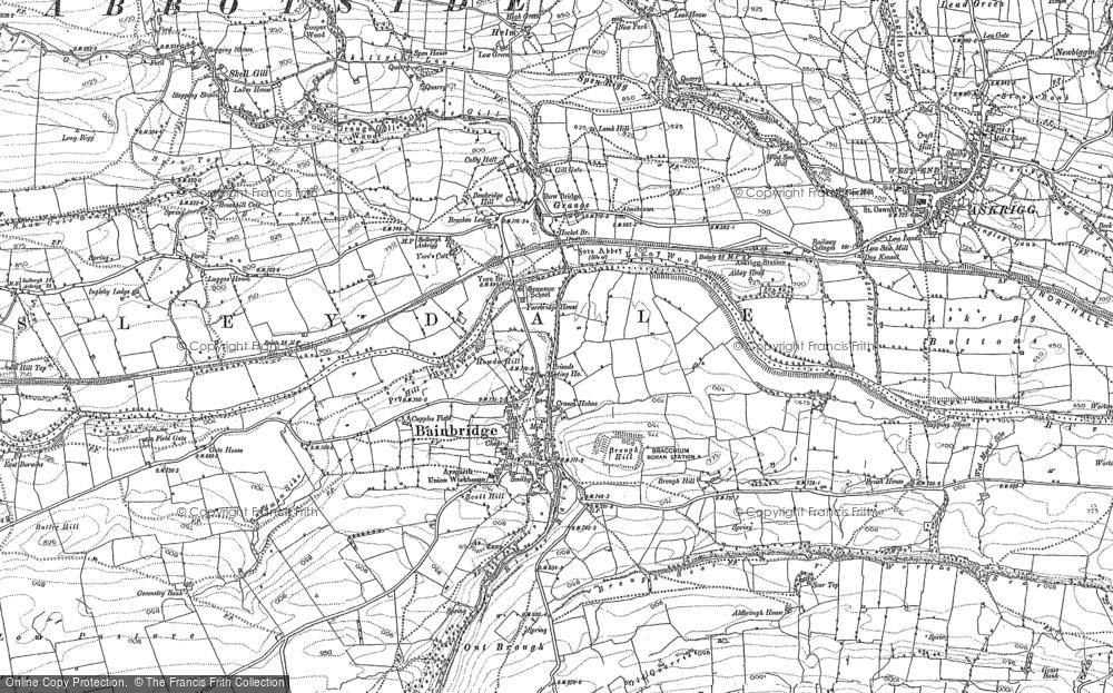 Old Map of Bainbridge, 1892 - 1893 in 1892