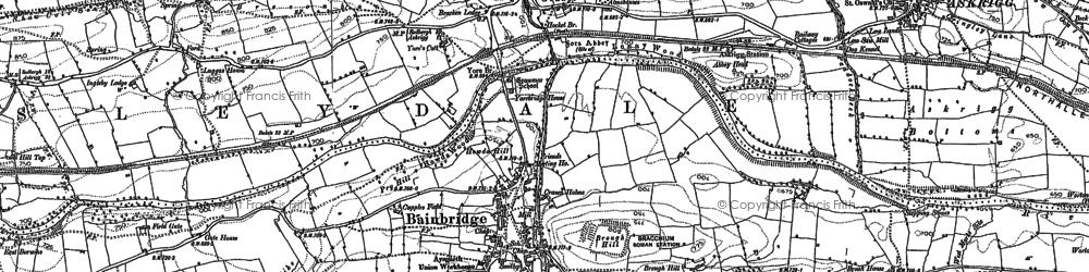 Old map of Bainbridge in 1892