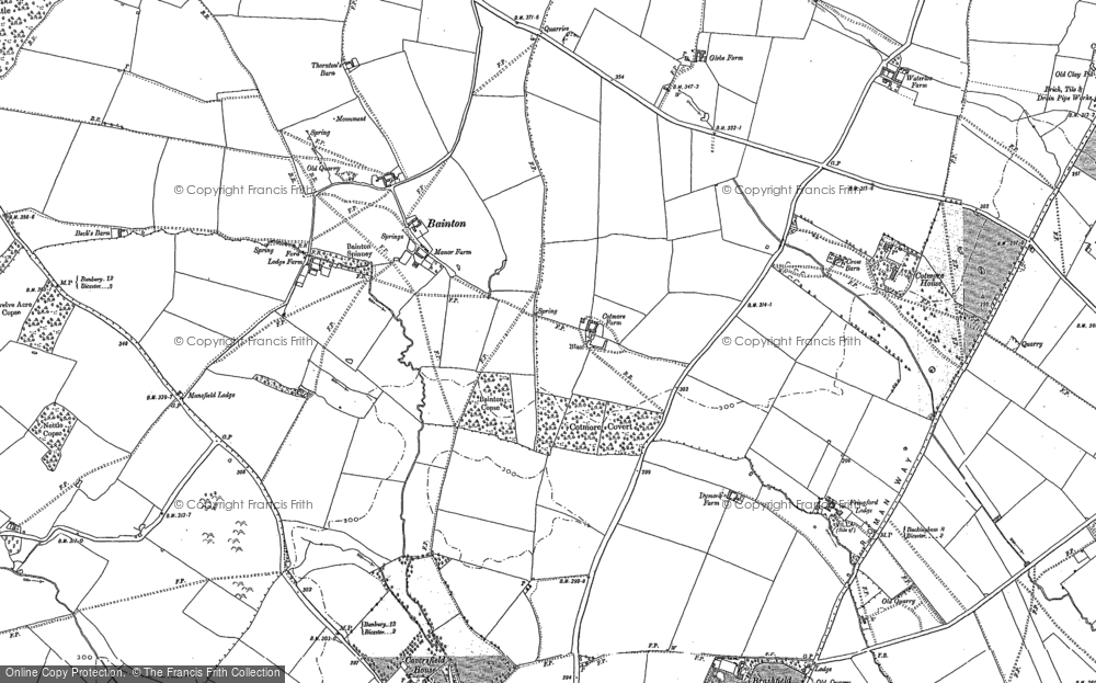 Old Map of Bainton, 1920 in 1920