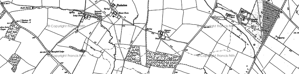 Old map of Bainton in 1920