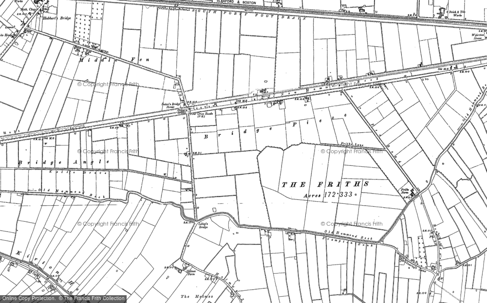 Old Map of Baker's Br, 1887 in 1887