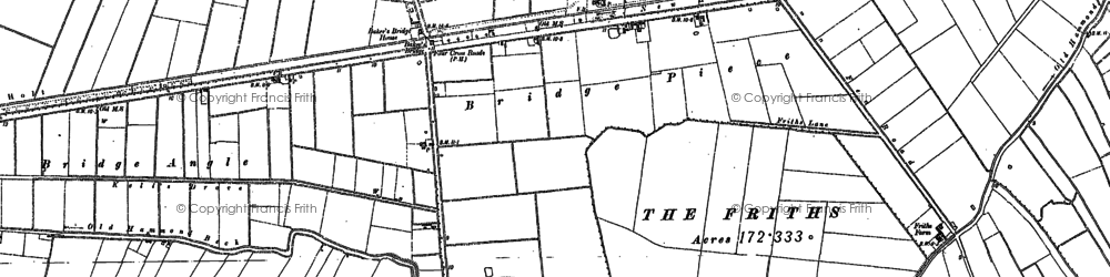 Old map of Baker's Br in 1887