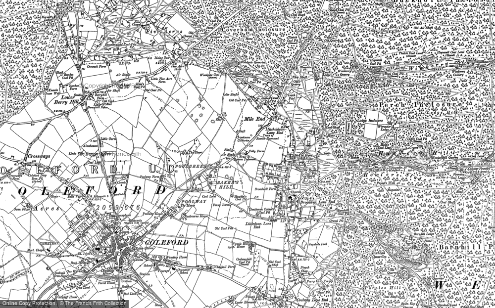 Old Map of Baker's Hill, 1878 - 1901 in 1878