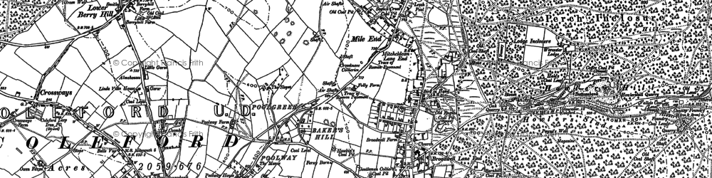 Old map of Baker's Hill in 1878