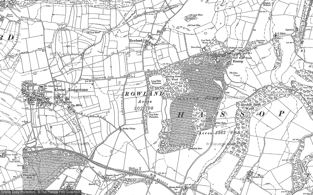 Old Map of Bakewell, 1878 in 1878