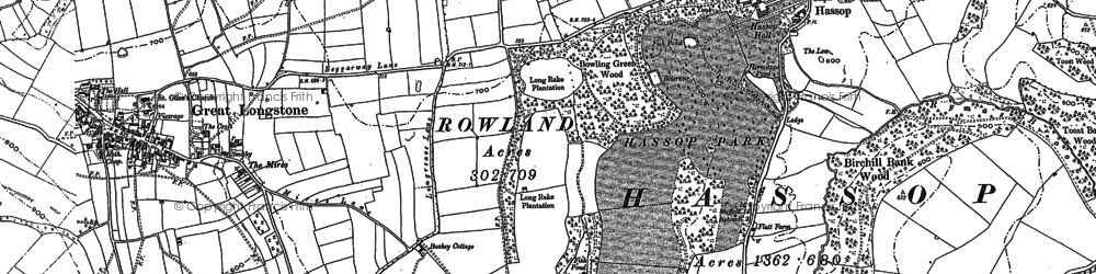 Old map of Bakewell in 1878