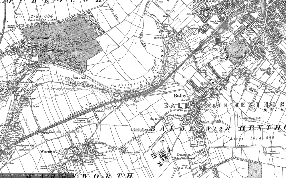 Old Map of Balby, 1890 - 1901 in 1890