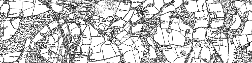 Old map of Balcombe in 1896