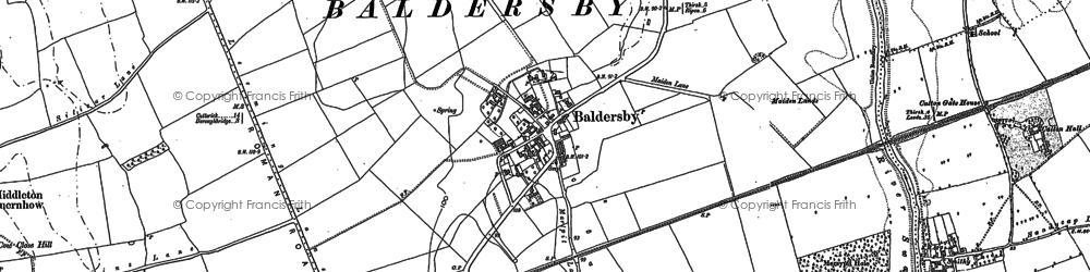 Old map of Baldersby in 1890