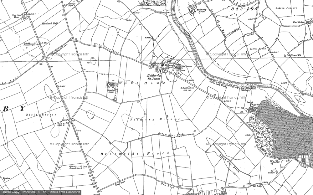 Old Map of Baldersby St James, 1890 in 1890