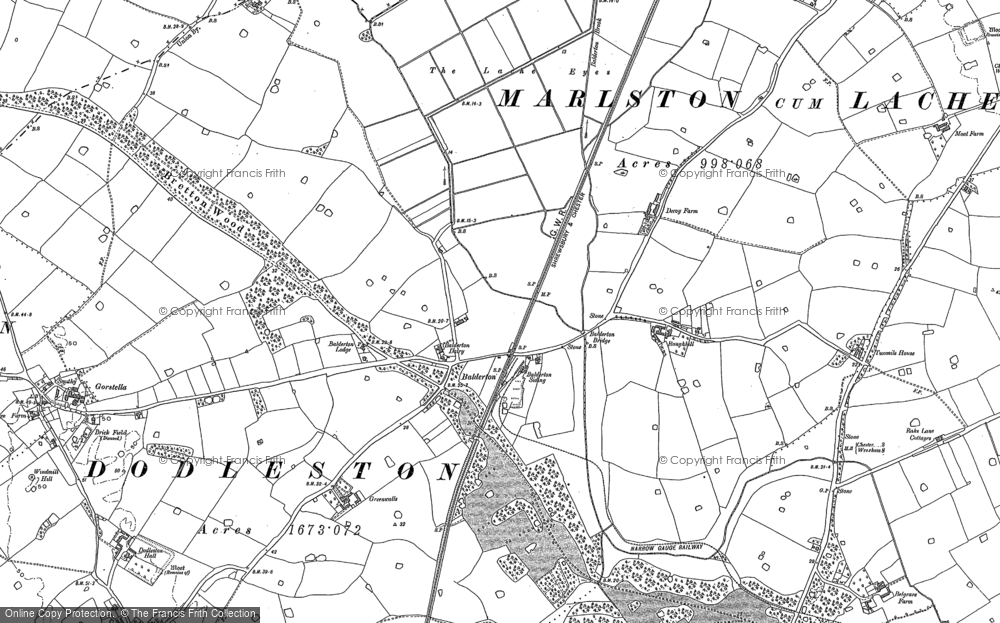 Old Map of Balderton, 1909 in 1909