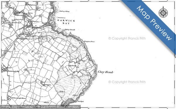 Historic Map covering Ballacreggan