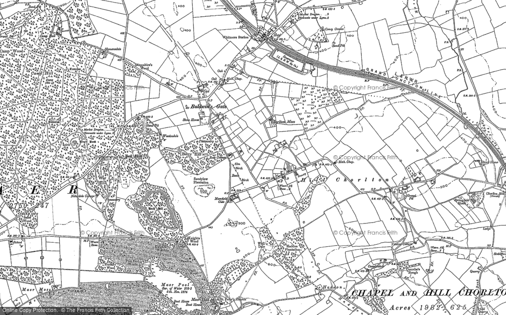 Old Map of Baldwin's Gate, 1879 in 1879